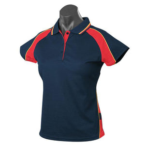 The Panorama Polo | Ladies | Short Sleeve | Navy/Red/Gold