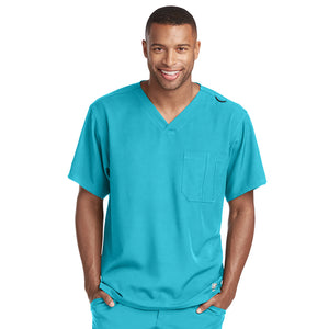 Structure Scrub Top | New Turquoise