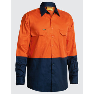 Two Tone Lightweight Shirt | Orange/Navy