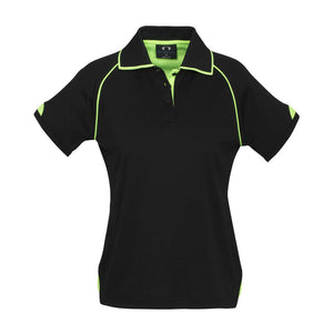 Fusion Polo  Ladies | Black/Lime