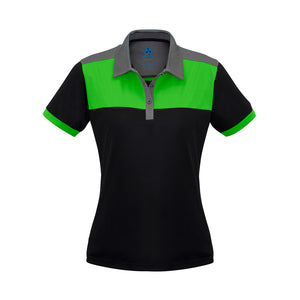 The Charger Polo | Ladies | Short Sleeve | Black/Green/Grey