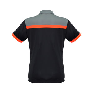 The Charger Polo | Ladies | Short Sleeve | Black/Orange/Grey