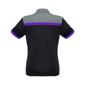 The Charger Polo | Ladies | Short Sleeve | Black/Purple/Grey