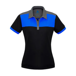 The Charger Polo | Ladies | Short Sleeve | Black/Royal/Grey