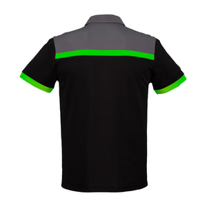 The Charger Polo | Mens | Short Sleeve | Black/Lime/Grey