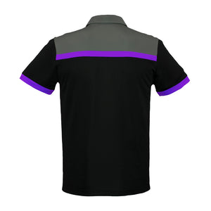 The Charger Polo | Mens | Short Sleeve | Black/Purple/Grey