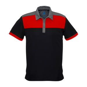 The Charger Polo | Mens | Short Sleeve | Black/Red/Grey