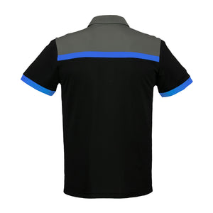 The Charger Polo | Mens | Short Sleeve | Black/Royal/Grey
