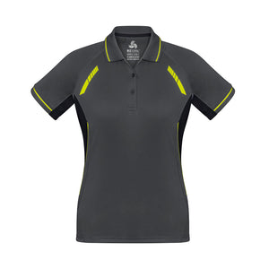 The Renegade Polo | Ladies | Short Sleeve | Grey/Yellow