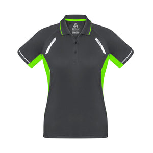 The Renegade Polo | Ladies | Short Sleeve | Grey/Lime