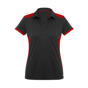 Rival Polo | Black/Red