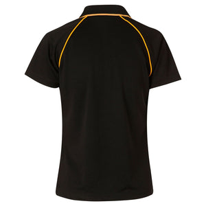 The Champion Polo | Ladies | Short Sleeve | Black/Gold
