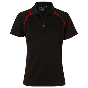 The Champion Polo | Ladies | Short Sleeve | Black/Red