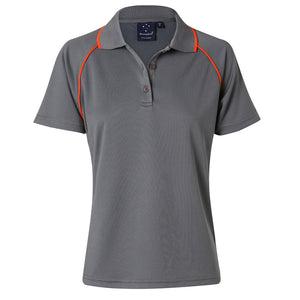 The Champion Polo | Ladies | Short Sleeve | Charcoal/Orange