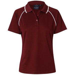 The Champion Polo | Ladies | Short Sleeve | Maroon/White