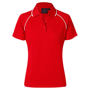 The Champion Polo | Ladies | Short Sleeve | Red/White