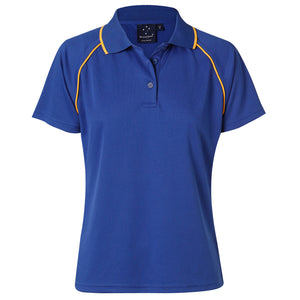 The Champion Polo | Ladies | Short Sleeve | Royal/Gold