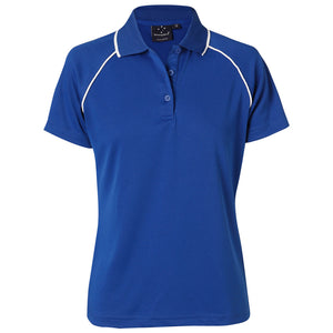 The Champion Polo | Ladies | Short Sleeve | Royal/White
