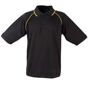 The Champion Polo | Mens | Short Sleeve | Black/Gold