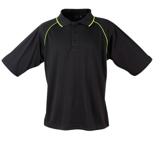 The Champion Polo | Mens | Short Sleeve | Black/Lime