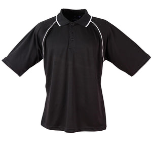 The Champion Polo | Mens | Short Sleeve | Black/White