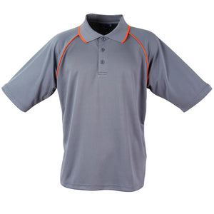 The Champion Polo | Mens | Short Sleeve | Charcoal/Orange