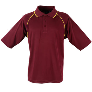 The Champion Polo | Mens | Short Sleeve | Maroon/Gold