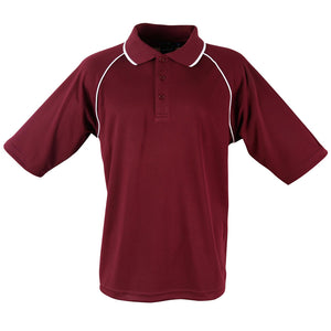The Champion Polo | Mens | Short Sleeve | Maroon/White