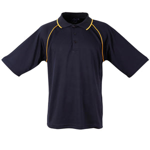 The Champion Polo | Mens | Short Sleeve | Navy/Gold