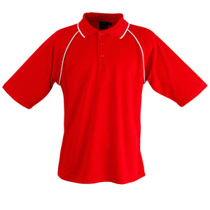 The Champion Polo | Mens | Short Sleeve | Red/White