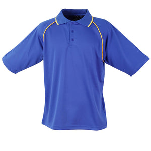 The Champion Polo | Mens | Short Sleeve | Royal/Gold