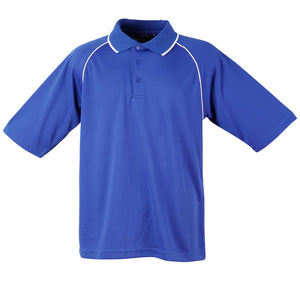The Champion Polo | Mens | Short Sleeve | Royal/White