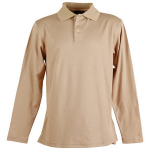 The Victory Polo | Mens | Long Sleeve | Beige