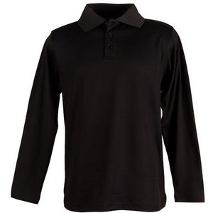 The Victory Polo | Mens | Long Sleeve | Black