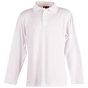 The Victory Polo | Mens | Long Sleeve | White