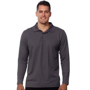 The Victory Polo | Mens | Long Sleeve | Steel Grey