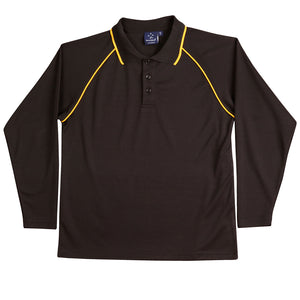 The Champion Polo | Mens | Long Sleeve | Black/Gold