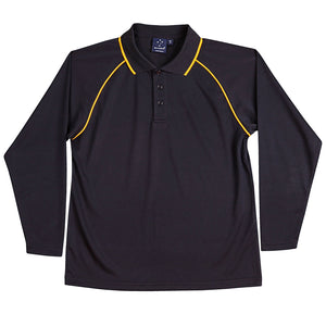 The Champion Polo | Mens | Long Sleeve | Navy/Gold