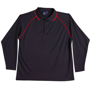 The Champion Polo | Mens | Long Sleeve | Navy/Red