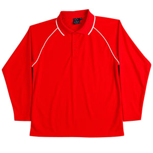 The Champion Polo | Mens | Long Sleeve | Red/White