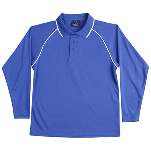 The Champion Polo | Mens | Long Sleeve | Royal/White