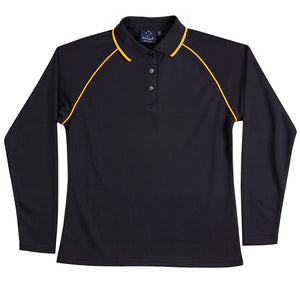 The Champion Polo | Ladies | Long Sleeve | Navy/Gold