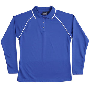 The Champion Polo | Ladies | Long Sleeve | Royal/White