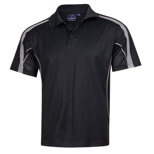 The Legend Polo | Mens | Short Sleeve | Black/Ash