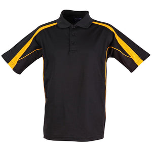 The Legend Polo | Mens | Short Sleeve | Black/Gold