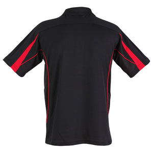 The Legend Polo | Mens | Short Sleeve | Black/Red