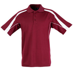The Legend Polo | Mens | Short Sleeve | Maroon/White