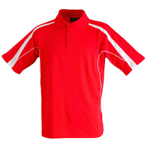 The Legend Polo | Mens | Short Sleeve | Red/White