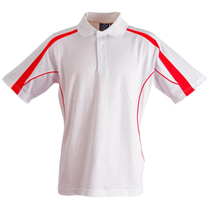 The Legend Polo | Mens | Short Sleeve | White/Red
