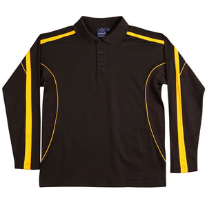 The Legend Polo | Mens | Long Sleeve | Black/Gold